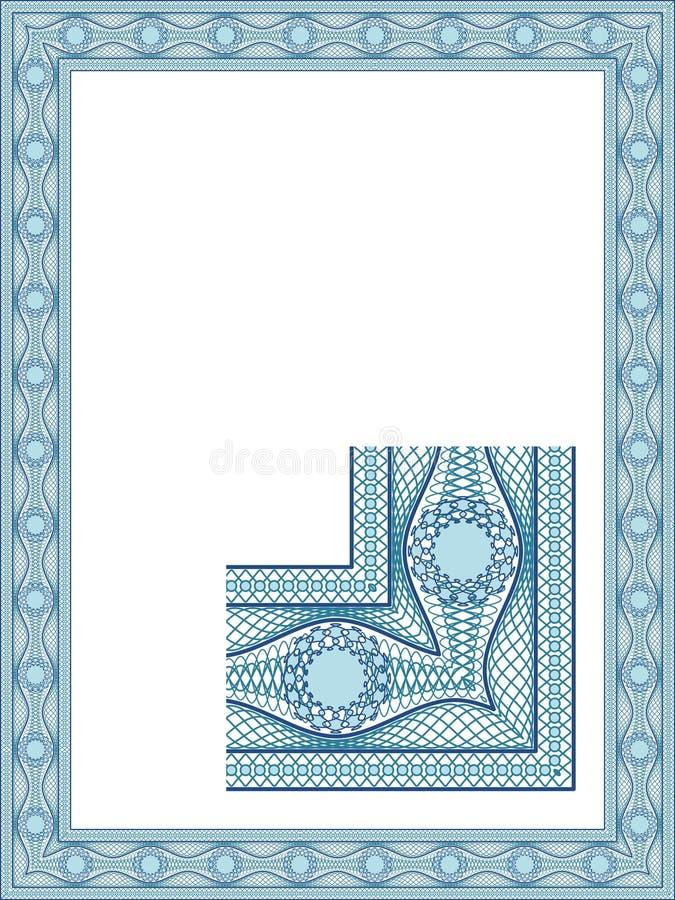 Klassieke guilloche grens royalty-vrije illustratie