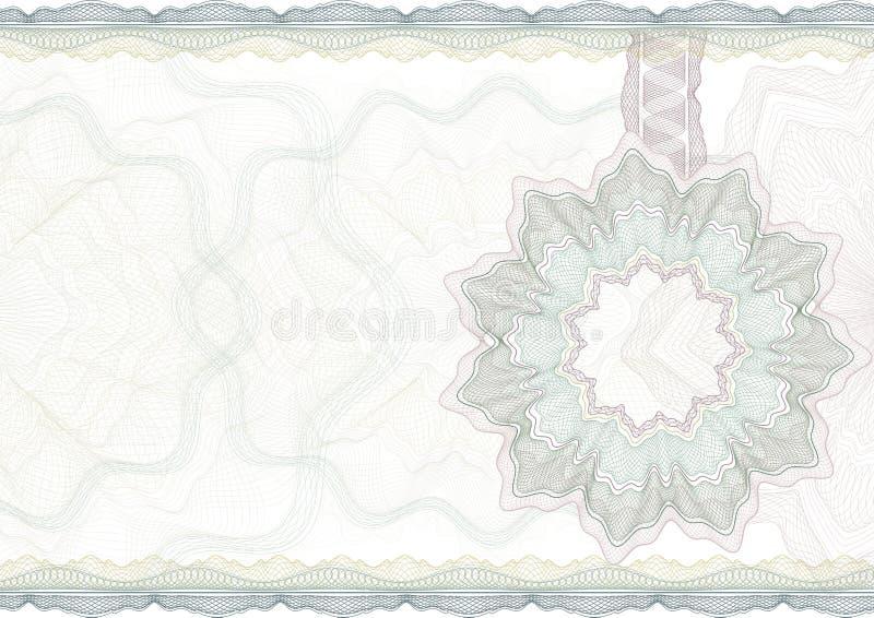 Klassieke guilloche grens voor certificaat. stock illustratie
