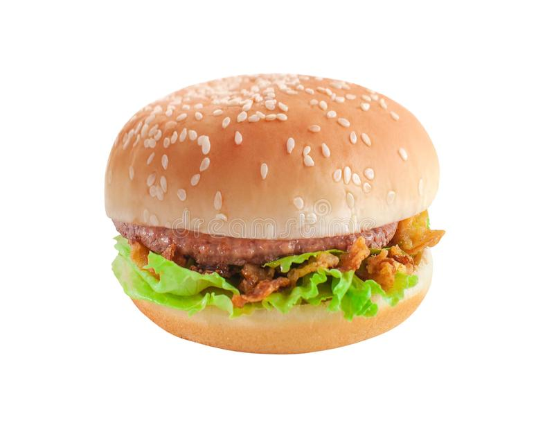 Klassieke Hamburger royalty-vrije stock foto's