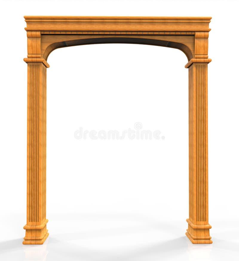Klassieke houten boog royalty-vrije illustratie