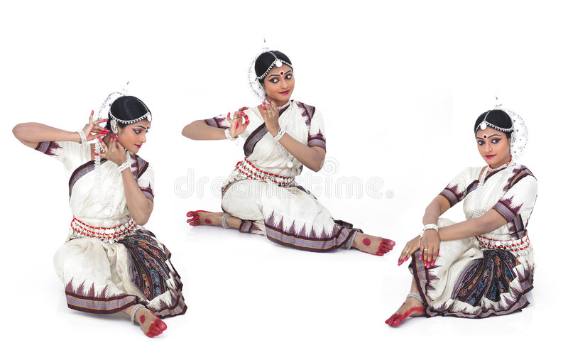 Klassieke Indische vrouwelijke danser royalty-vrije stock fotografie