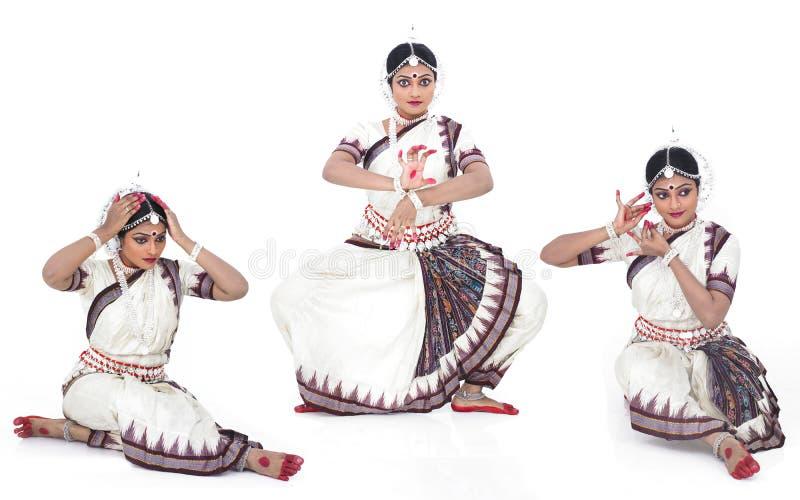 Klassieke Indische vrouwelijke danser royalty-vrije stock foto's