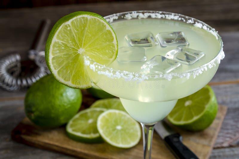 Klassieke Kalk Margarita Drinks royalty-vrije stock foto