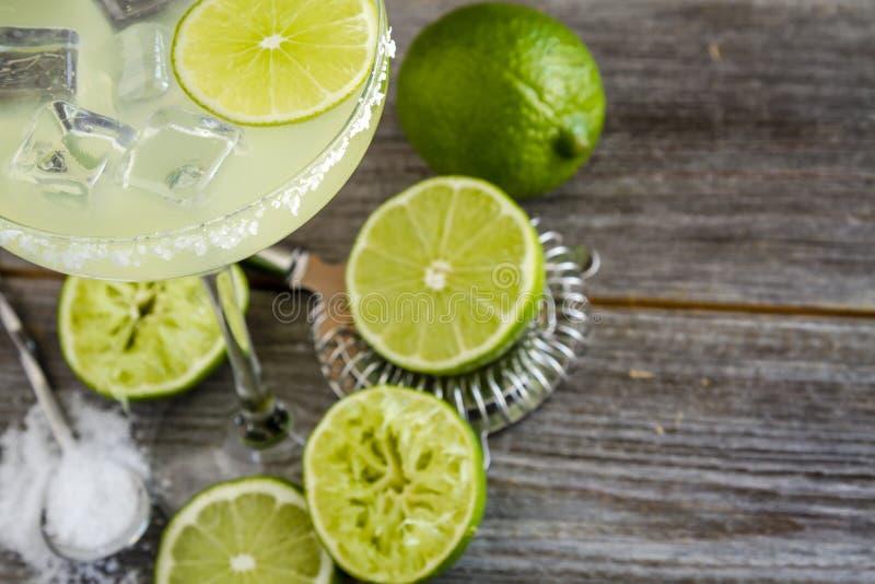 Klassieke Kalk Margarita Drinks royalty-vrije stock afbeelding