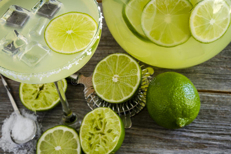 Klassieke Kalk Margarita Drinks stock foto