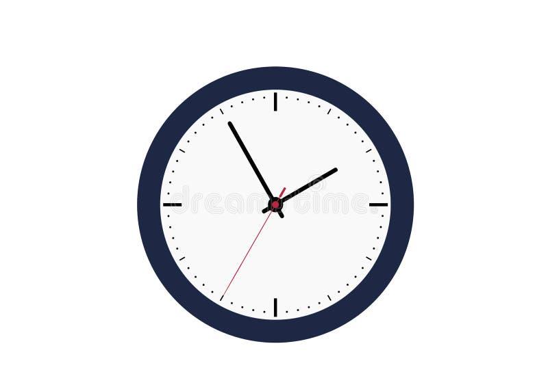 Klassieke klok met een witte wijzerplaat stock illustratie