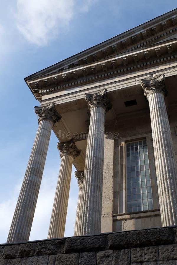 Klassieke kolommen van het Stadhuis van Birmingham royalty-vrije stock afbeeldingen