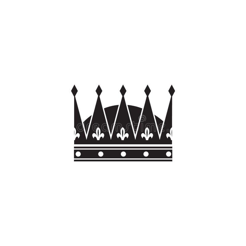 Klassieke koninklijke kroon voor kroning van een koning of koningin stock illustratie