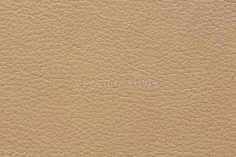 Klassieke leertextuur in perfectieve beige kleur royalty-vrije stock foto