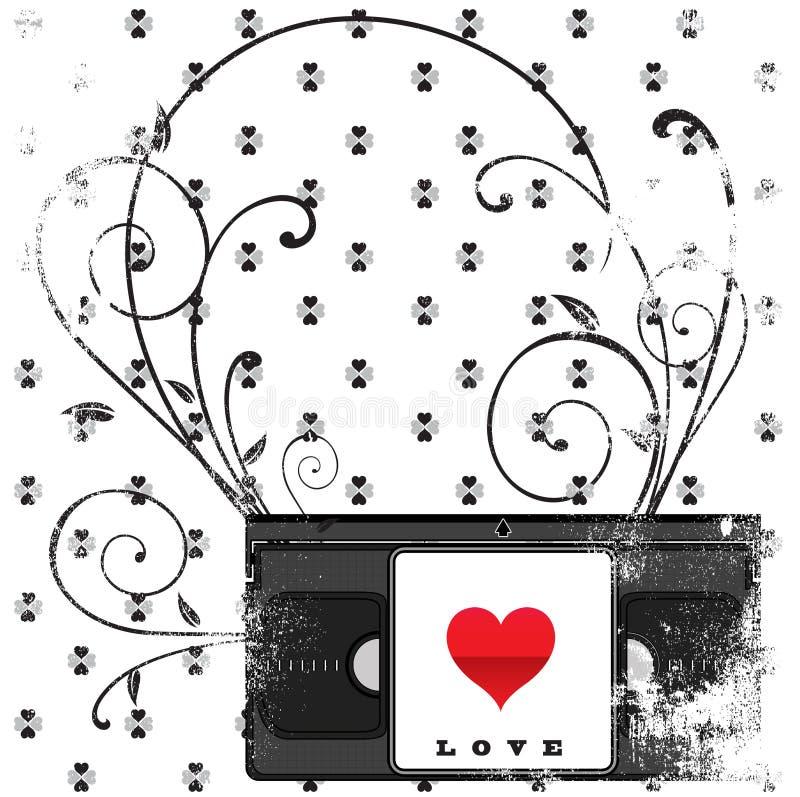 Klassieke liefde vector illustratie