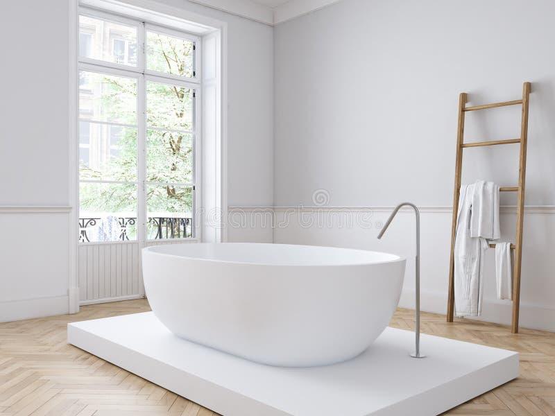 Klassieke luxebadkamers het 3d teruggeven vector illustratie