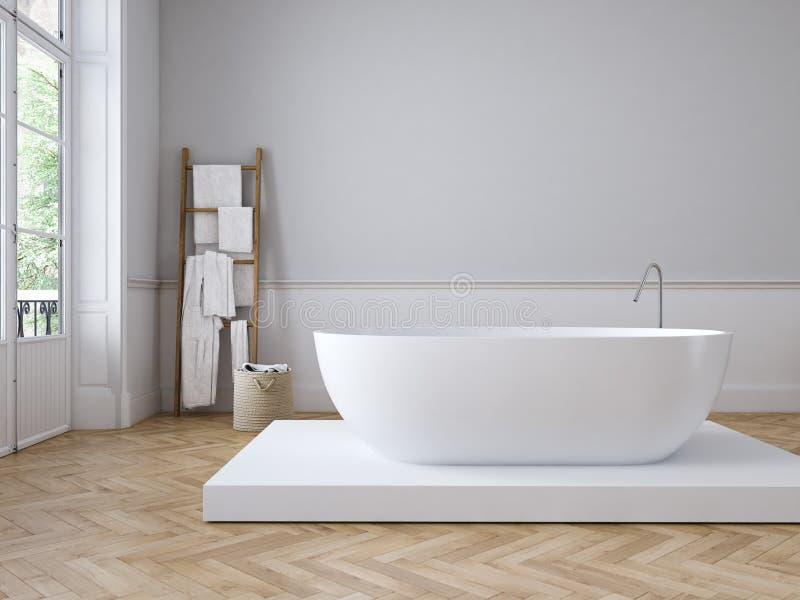 Klassieke luxebadkamers het 3d teruggeven stock illustratie