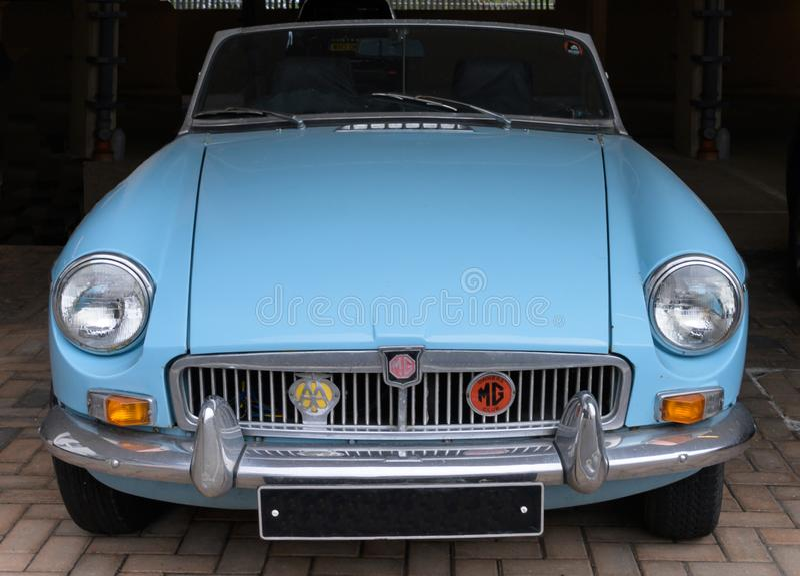 Klassieke MGB sportwagen van de jaren '60 royalty-vrije stock afbeeldingen