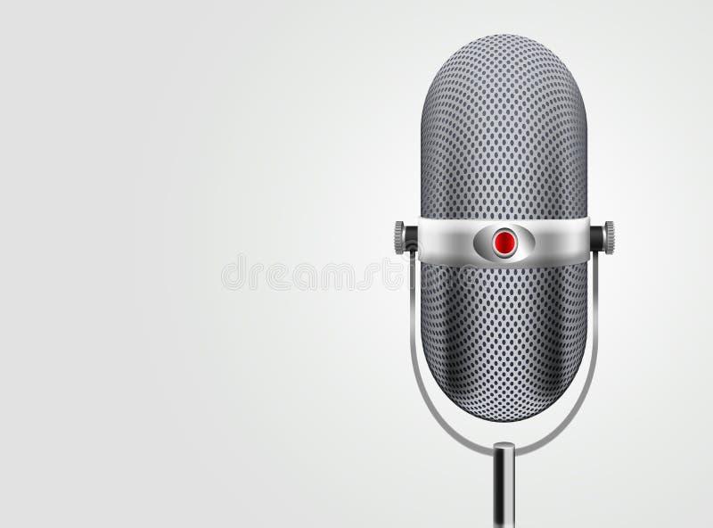 Klassieke Microfoon stock illustratie