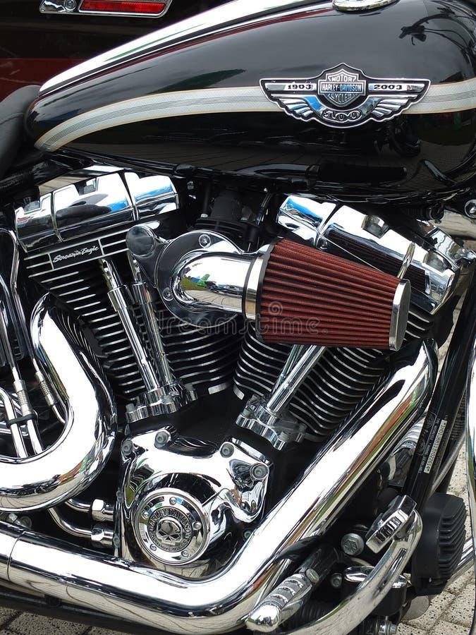 Klassieke motor stock afbeelding