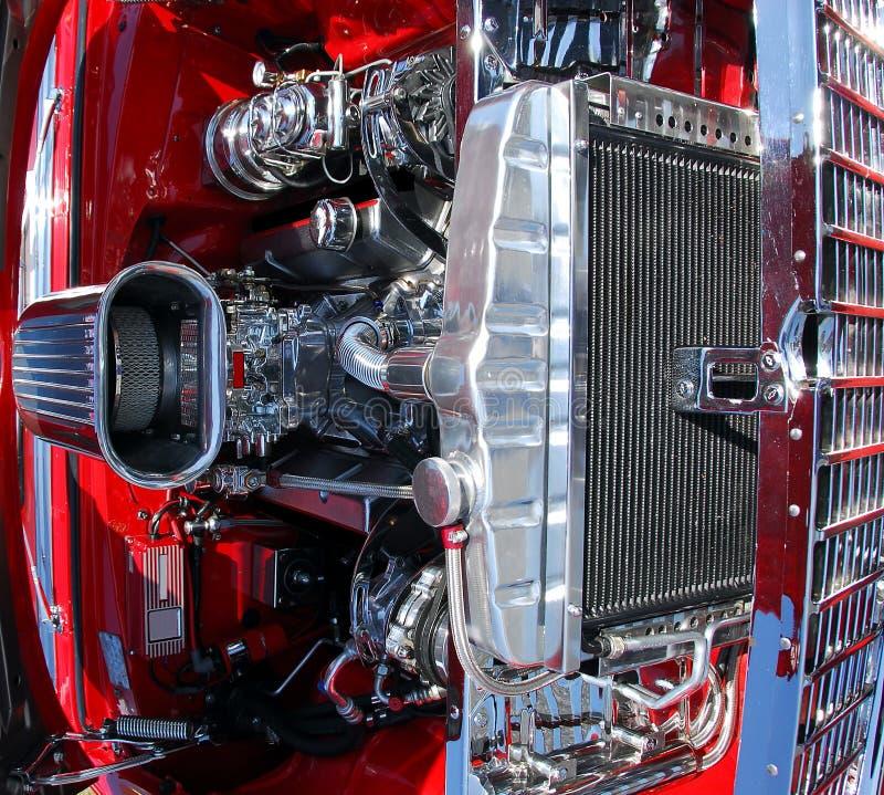 Klassieke motor van een auto stock afbeelding