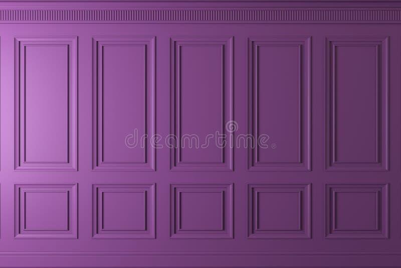 Klassieke muur van donkere houten panelen Ontwerp en technologie royalty-vrije illustratie