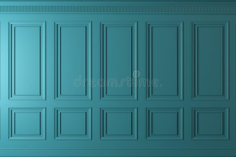 Klassieke muur van donkere houten panelen Ontwerp en technologie stock illustratie