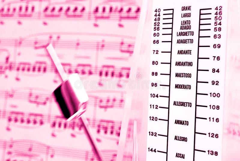 Klassieke muziek, metronoom royalty-vrije stock fotografie