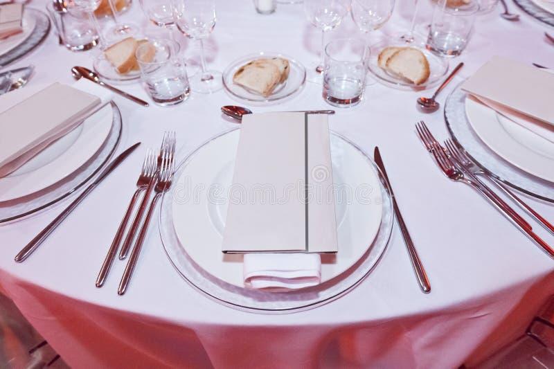 Klassieke omringend voor het banqueting stock afbeeldingen