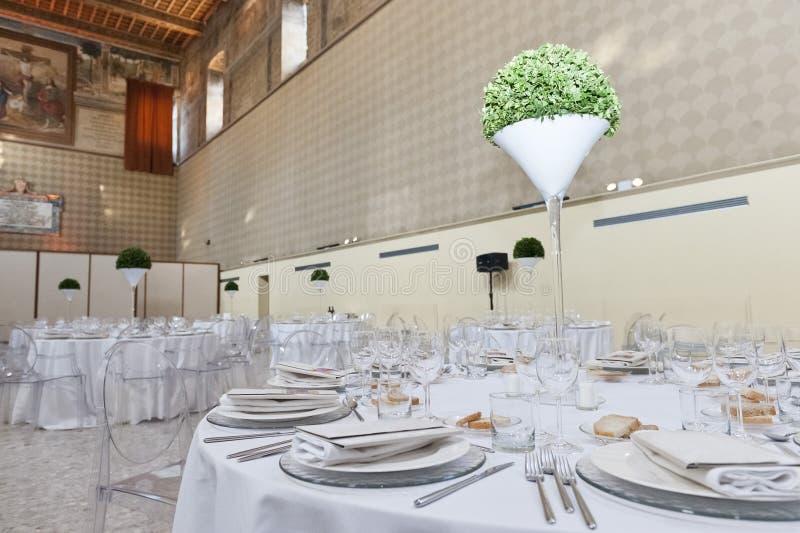 Klassieke omringend voor het banqueting stock foto's