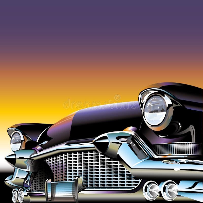 Klassieke oude auto vector illustratie