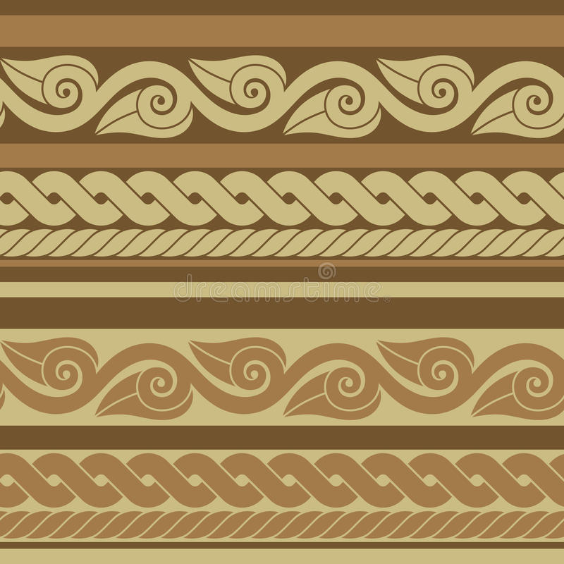 Klassieke oude Roman grens royalty-vrije illustratie