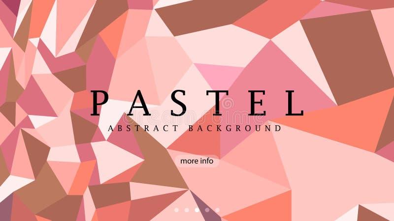 klassieke pasteltoon abstracte vectorachtergrond, modern meetkundewebsitemalplaatje, de achtergrond van de modeproductreclame vector illustratie