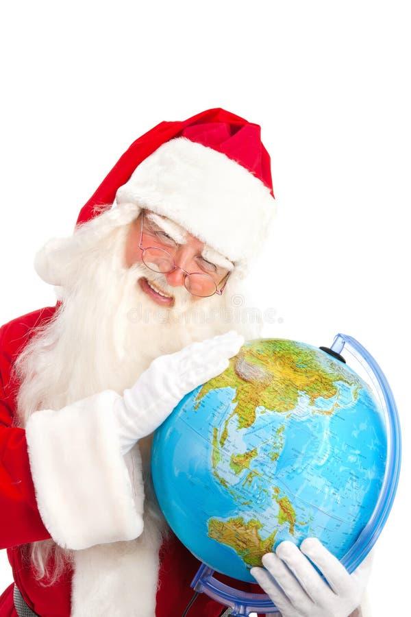 Klassieke Santa Looking in Azië stock foto