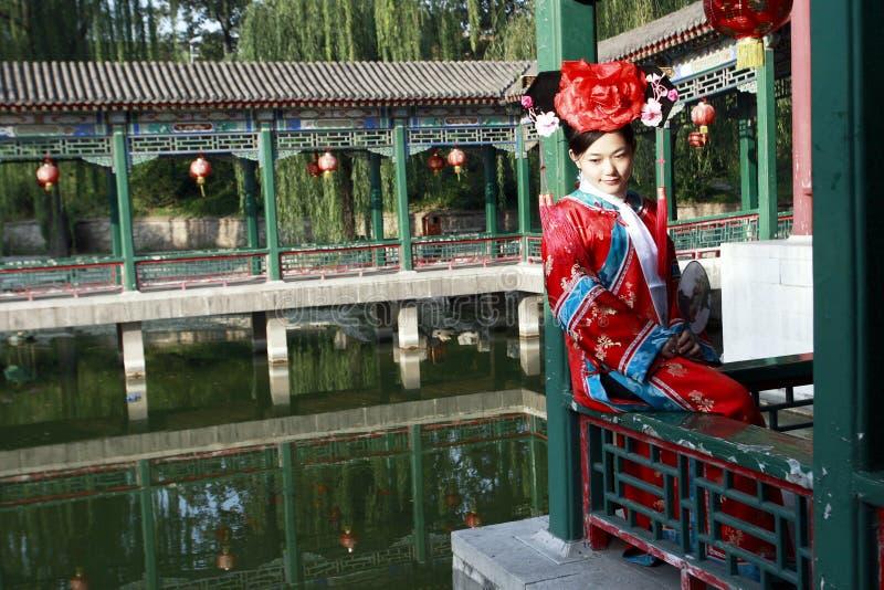 Klassieke schoonheid in China. stock foto