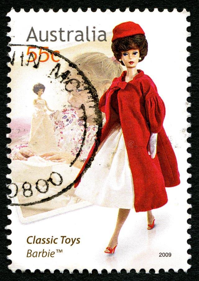 Klassieke Speelgoed Australische Postzegel stock afbeelding
