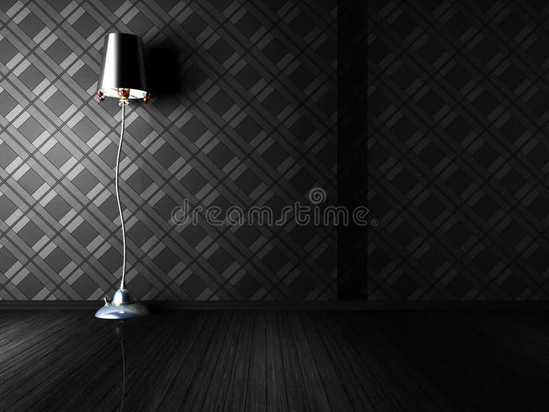 Klassieke staande lamp in een ruimte stock illustratie