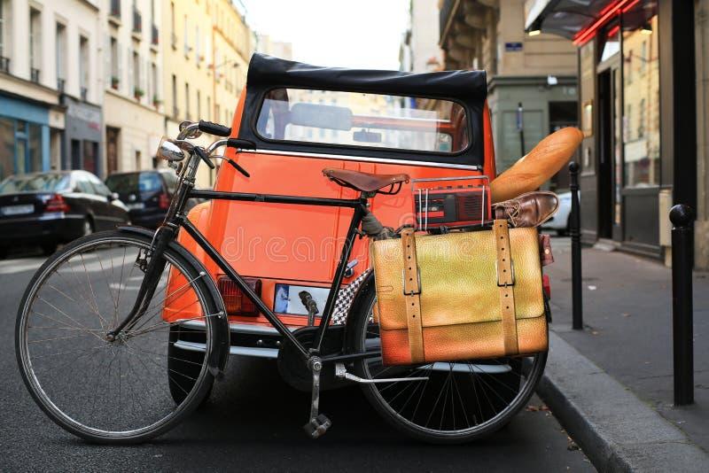 Klassieke stedelijke fiets stock foto's