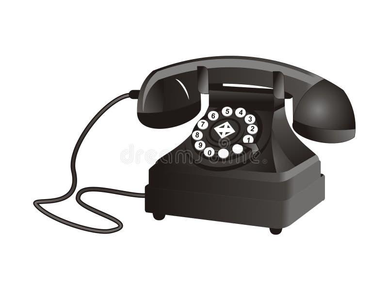 Klassieke telefoon stock illustratie