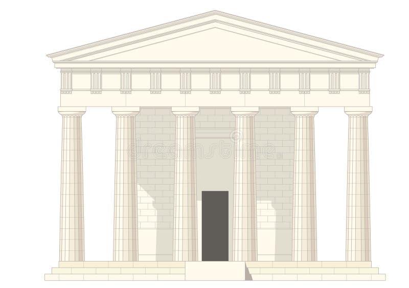 Klassieke tempel vector illustratie