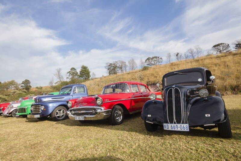 Klassieke uitstekende auto's stock foto