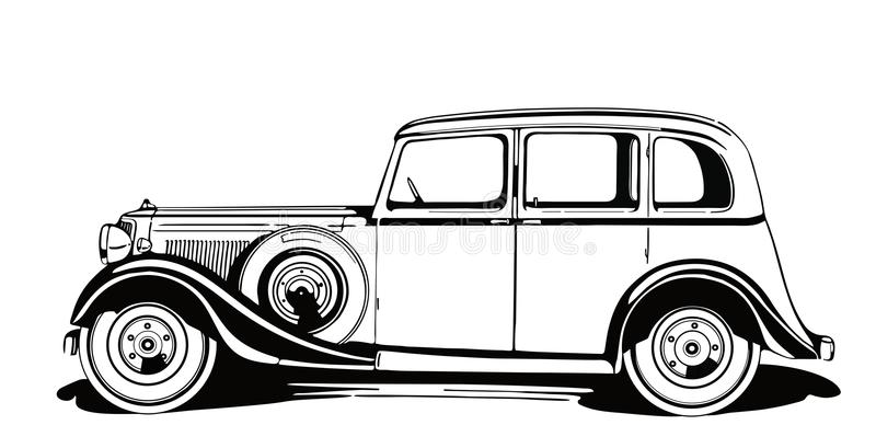 Klassieke Uitstekende Auto vanaf 1930 ` s stock afbeelding