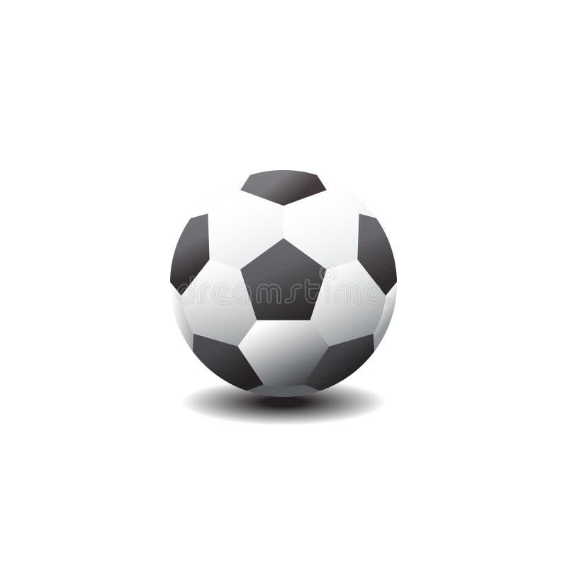 Klassieke voetbalbal Voetbalpictogram Vector illustratie royalty-vrije illustratie