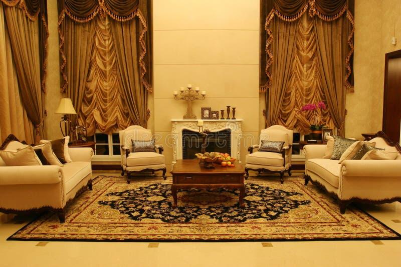 klassieke woonkamer stock foto afbeelding