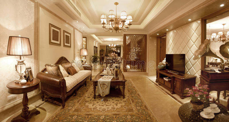 klassieke woonkamer royalty vrije stock afbeelding afbeelding