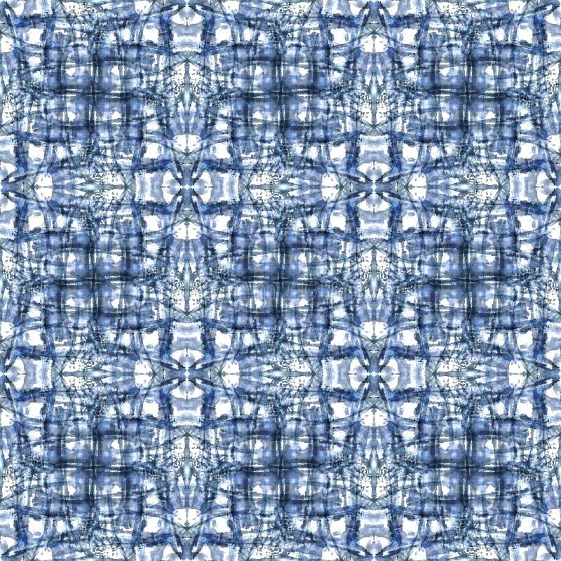 Klassiker för modell för repetition för textur för färg för Mandalageometriband modern royaltyfri illustrationer