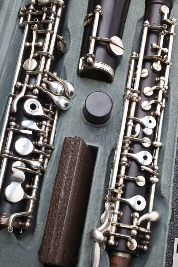 Klassikerinstrument - oboedetaljer arkivfoto