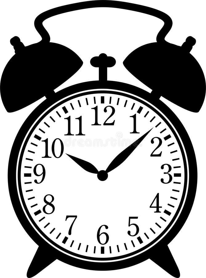 Klassische Alarmuhr lizenzfreie abbildung