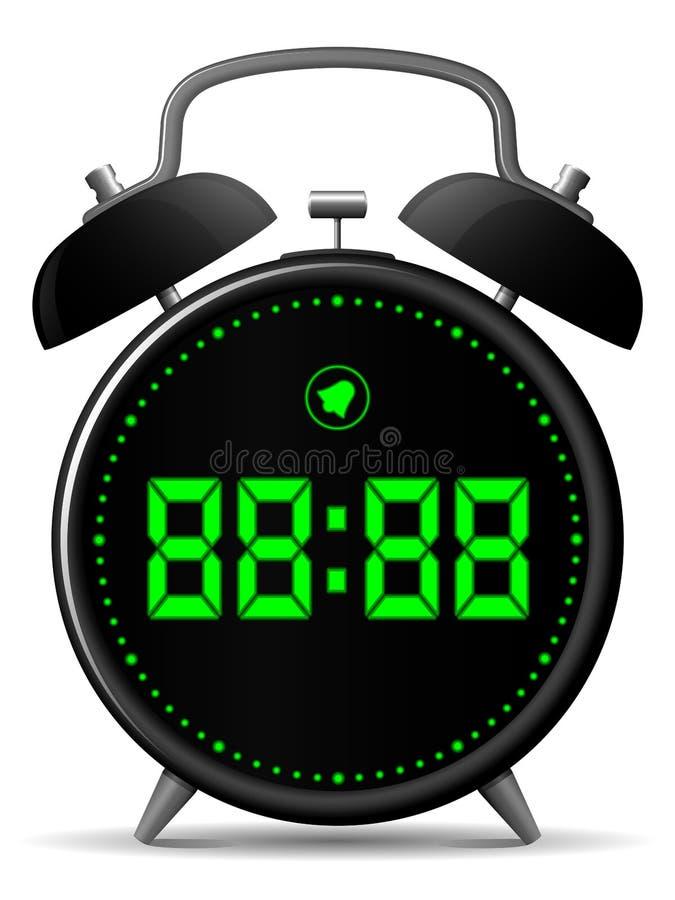 Klassische Alarmuhr mit Digitalanzeige vektor abbildung