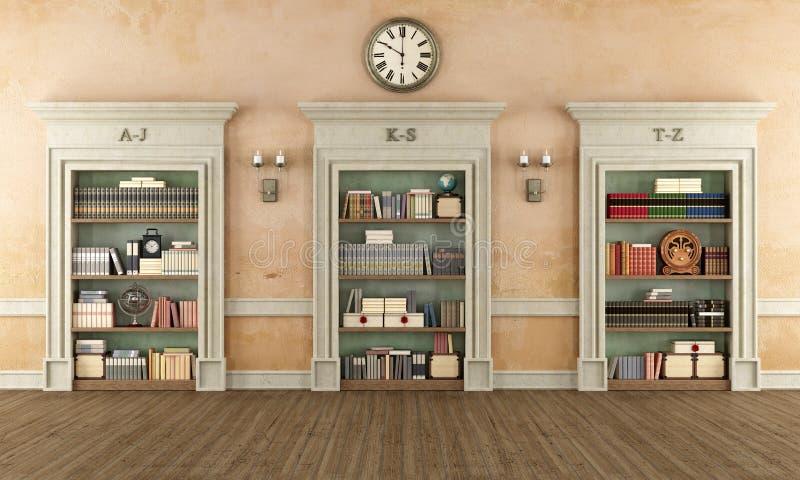 Klassische Bibliothek vektor abbildung