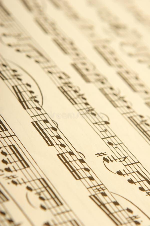 Klassische Blattmusik lizenzfreie stockbilder