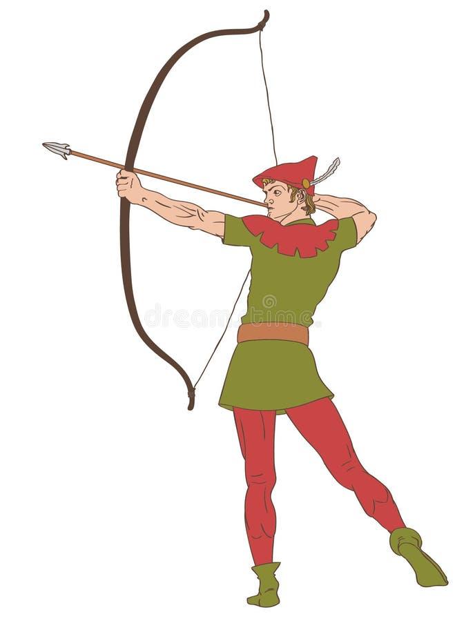 Klassische Bogenschützevektor ENV Hand gezeichnet, Vektor, ENV, Logo, Ikone, Schattenbild Illustration durch crafteroks für unter stock abbildung