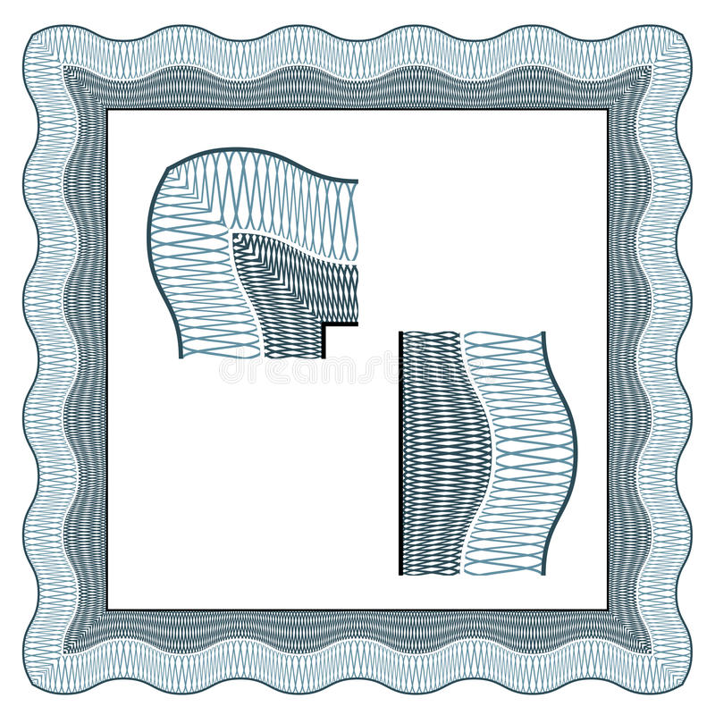 Klassische dekorative Grenze des nahtlosen Zertifikats stock abbildung