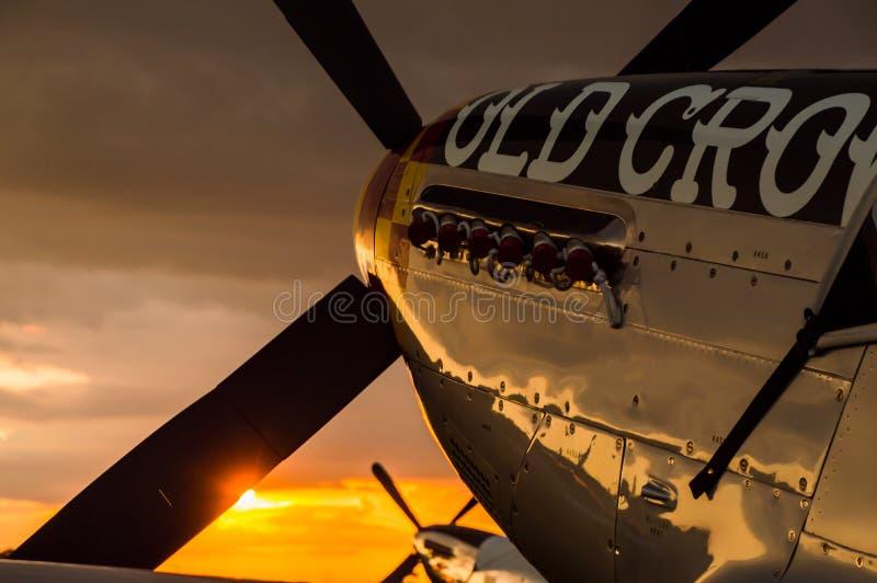 Klassische Fluglinienkämpfer stockfoto