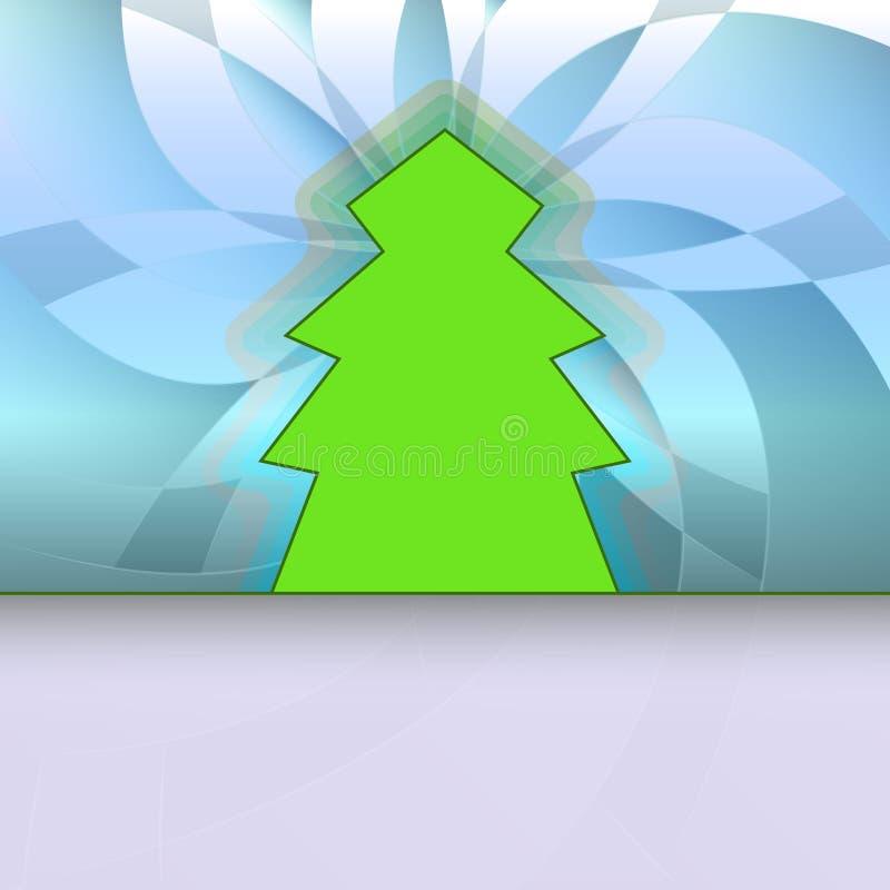 Download Klassische Form Konzipierte Baum Auf Blauem Blumen Vektor Abbildung - Illustration von auslegung, farbe: 27731913